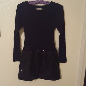 Sweater Dress black with sequins
